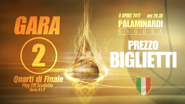 Passalacqua Ragusa: per gli abbonati prezzi ridotti per assistere a gara 2 dei playoff