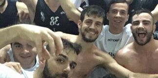 Spadafora festeggia la vittoria a Trapani