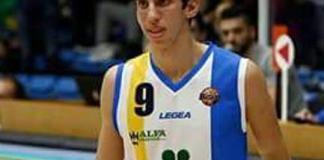 Davide Giglia con la maglia dell'Orlandina