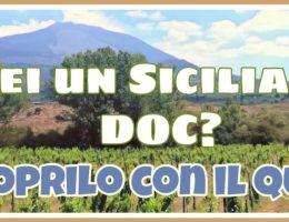 Un siciliano DOC - Quiz