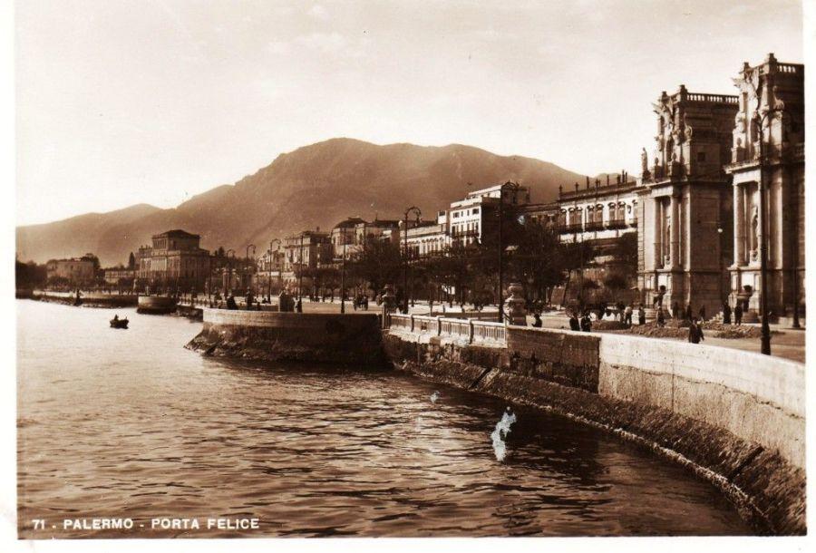 Foto antiche di Palermo - Porta Felice (primi 900)