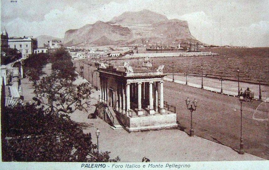 Foto antiche di Palermo - Foro Italico e Monte Pellegrino (1921)