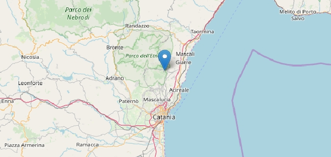 Terremoto Catania, scossa 2.8 epicentro a Zafferana