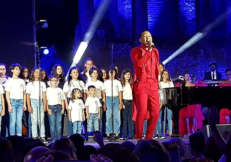 C'è tanta Sicilia nel successo di John Legend a Taormina