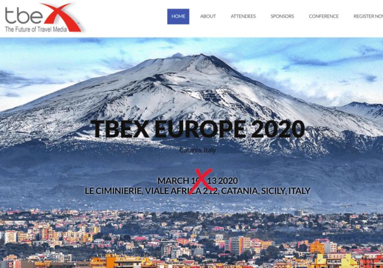 Coronavirus, a Catania rinviato il TBEX Europe 2020