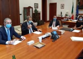 Trasporti e infrastrutture: Nello Musumeci incontra i ministri De Micheli e Provenzano