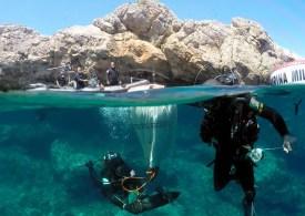 Bombe in mare, intervengono i palombari della Marina Militare