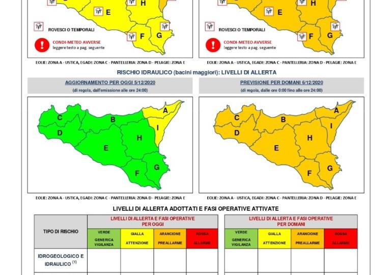 Maltempo: allerta meteo arancione in tutta la Sicilia