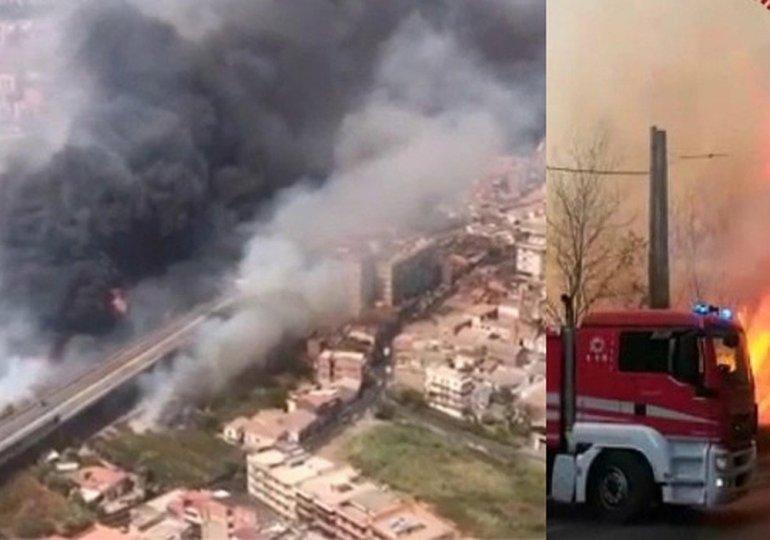 Incendi: la Sicilia brucia, tanta paura a Catania