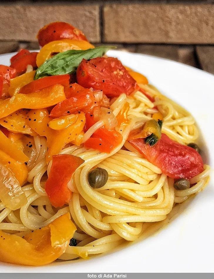Spaghetti con i peperoni alla siciliana