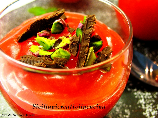 Tartellette al gelo di anguria alla siciliana