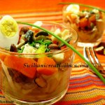 Süß-saurer Kürbissalat, Kohl und getrockneten Früchten