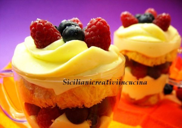 Chantilly lemon tiramisu and wild berries