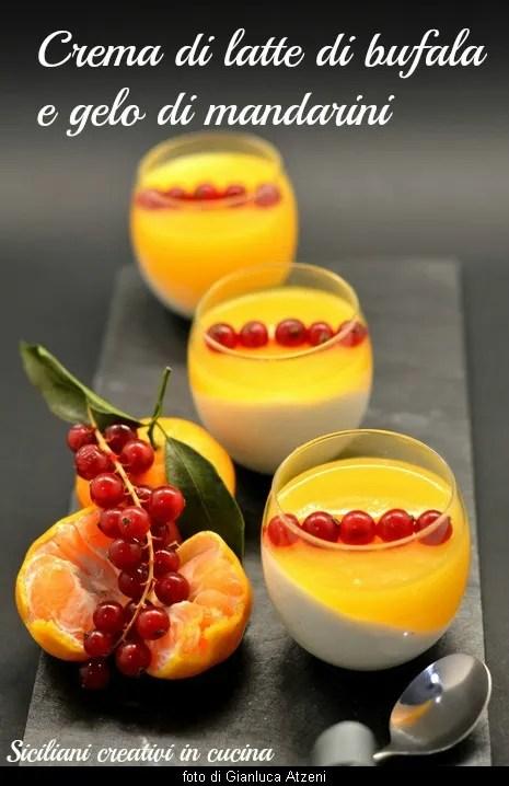 Blancmange avec le gel mandarins