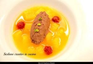 Lauwarme Suppe mit Orangen und Mousse au Chocolat