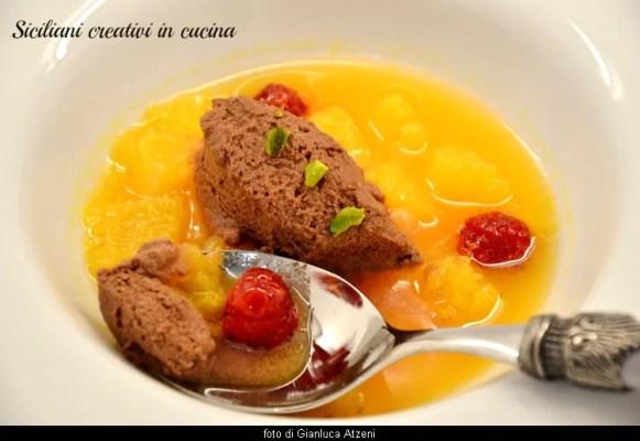 Zuppetta tiepida di arance e mousse al cioccolato