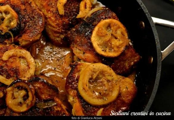 Pollo al limone in tegame