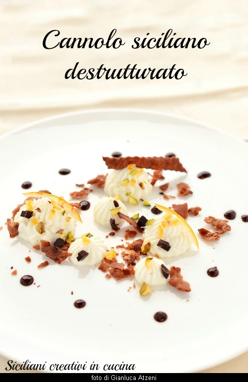 Variation of Sicilian cannolo, deconstructed