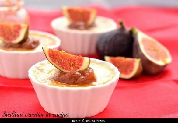 Crème brulée al pecorino con confettura di fichi: ricetta facile per gourmet