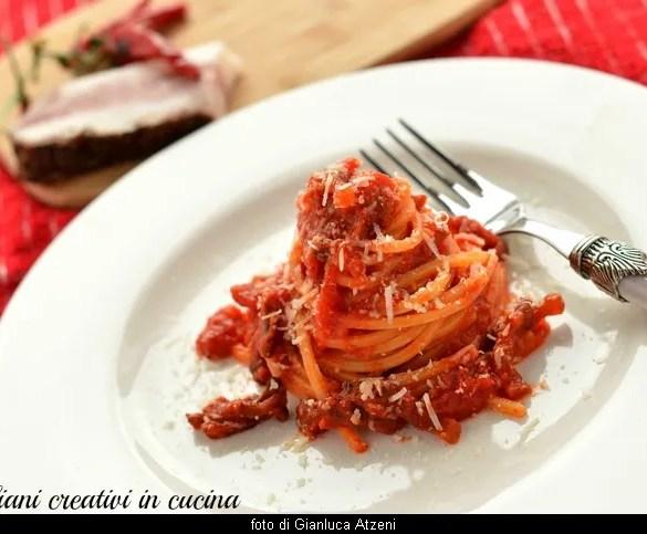 Spaghetti alla Amatriciana, ricetta originale