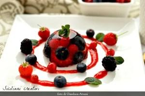 Aspic al Moscato d'Asti e frutti di bosco