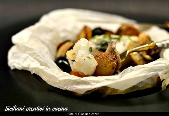Baccalà al cartoccio con patate