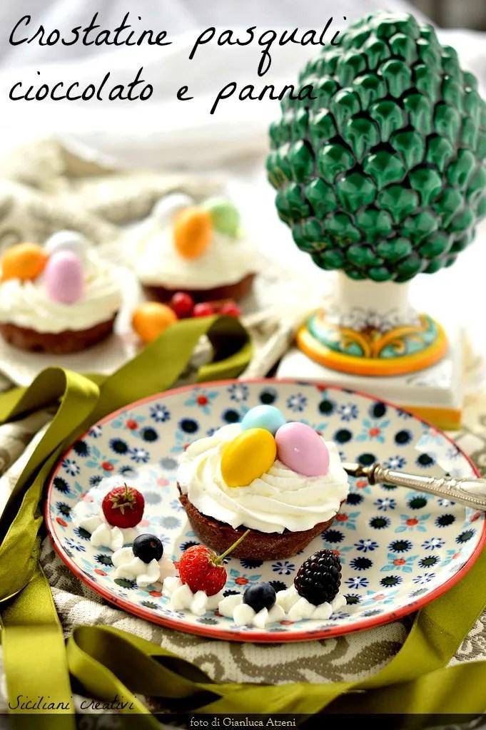 Pâques Tartelettes au chocolat et crème