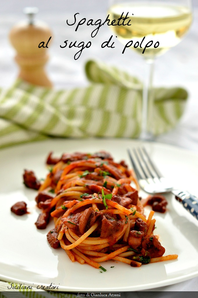 Spaghetti with Octopus sauce
