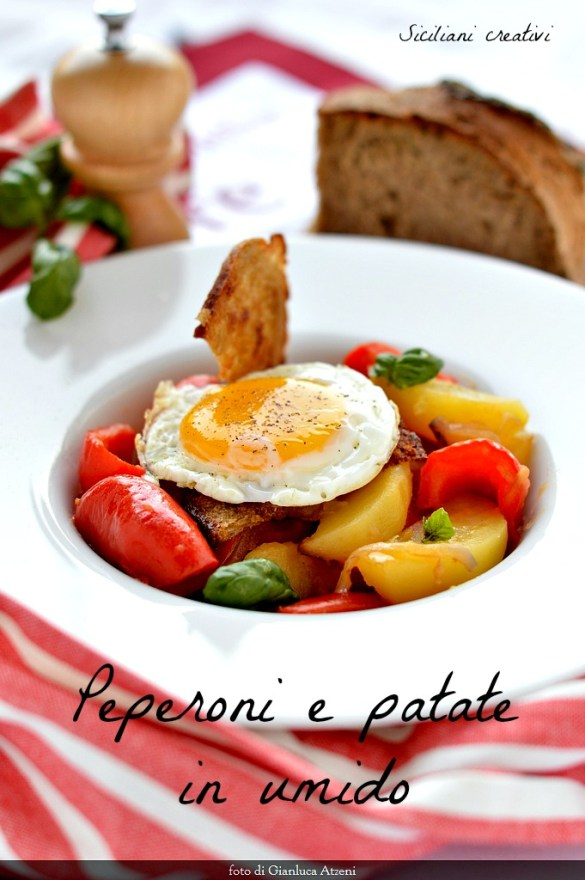 Peppers stew with potatoes: easy and light Sicilian recipe