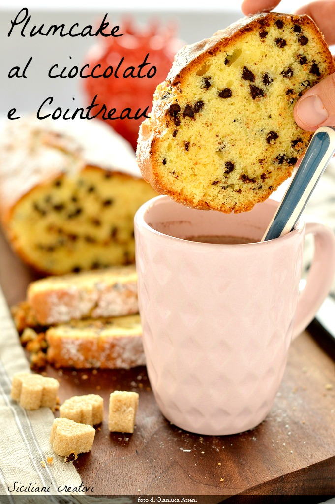 Plum cake with chocolate chips: the perfect breakfast