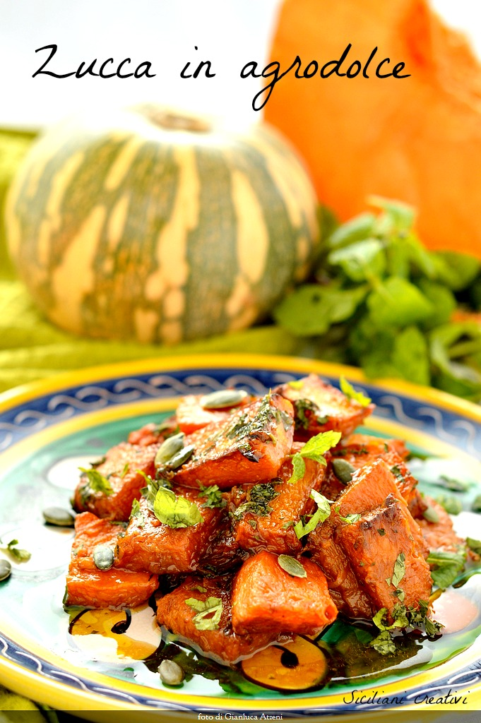 Sicilian sweet and sour pumpkin