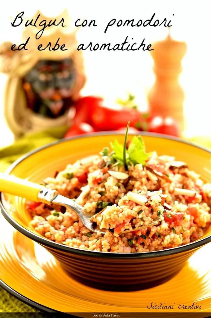 Trigo bulgur con tomates y hierbas