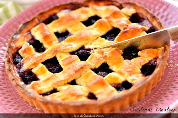 Crostata di mirtilli freschi (blueberry pie)
