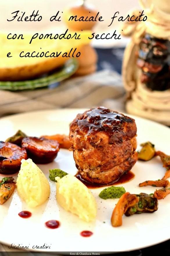 Filetto di maiale farcito alla siciliana