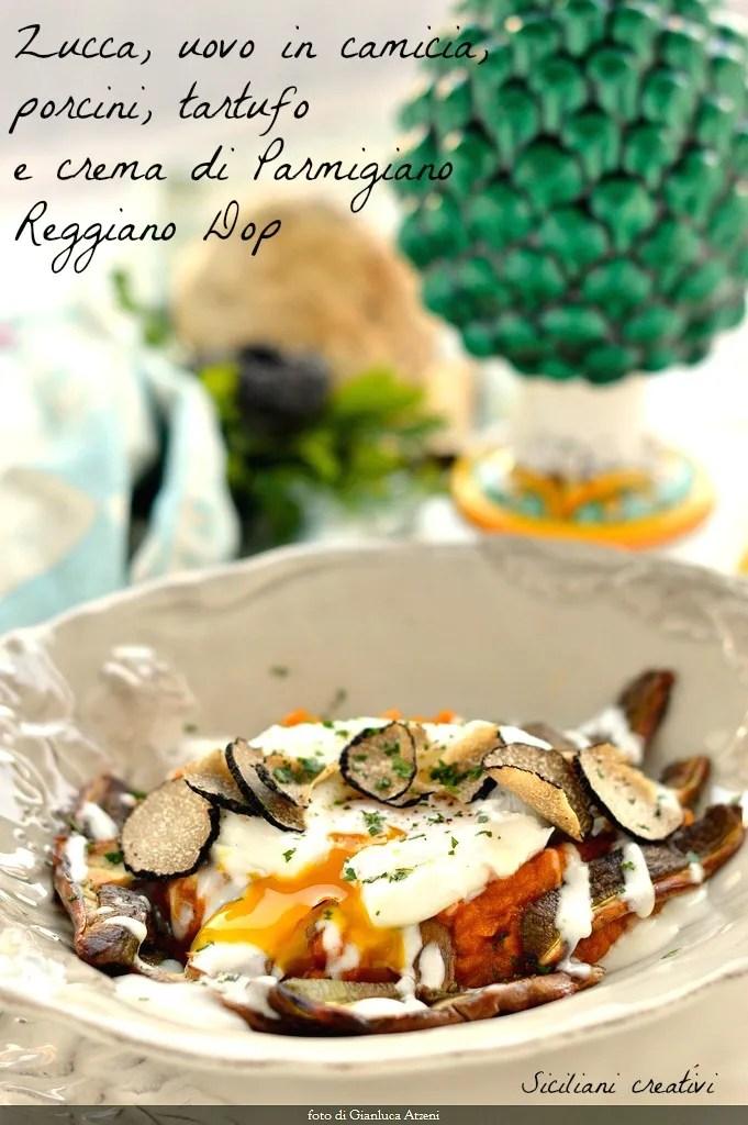 L\'autunno nel piatto: Citrouille et porcini oeuf truffe