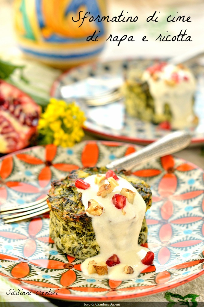 Broccoli Rabe and ricotta timbale