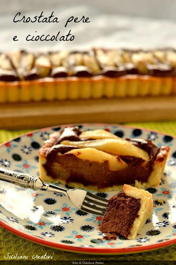 梨とチョコレートタルト