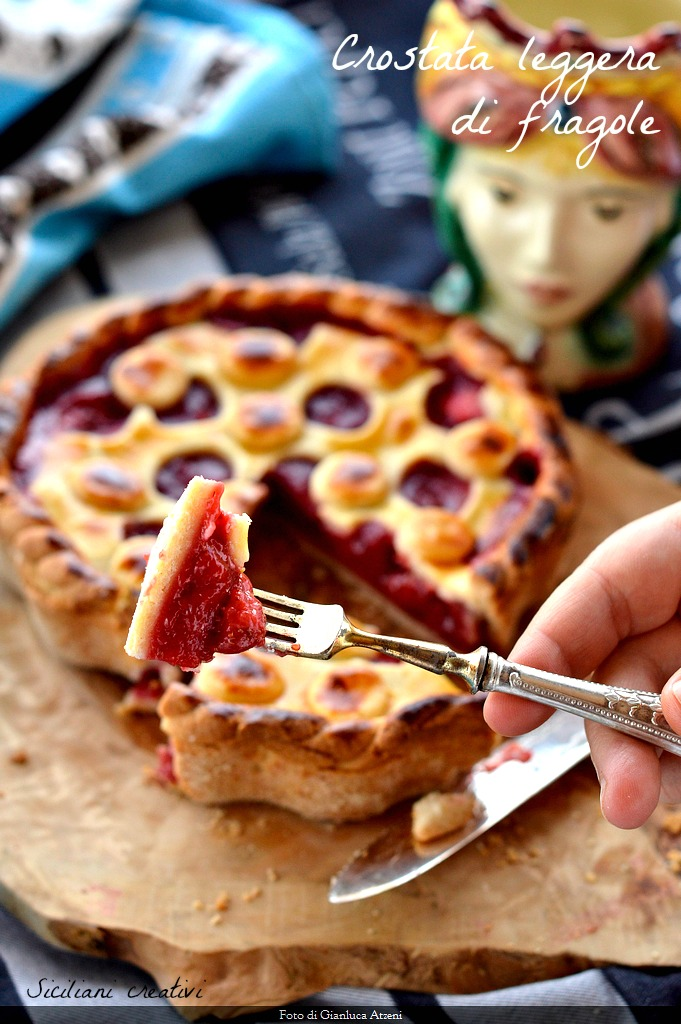 tarte aux fraises légère, peu de sucre et beaucoup de goût