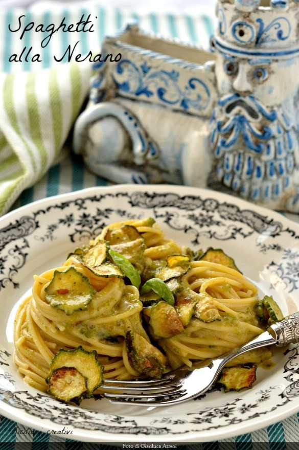 Espaguetis con calabacines Nerano