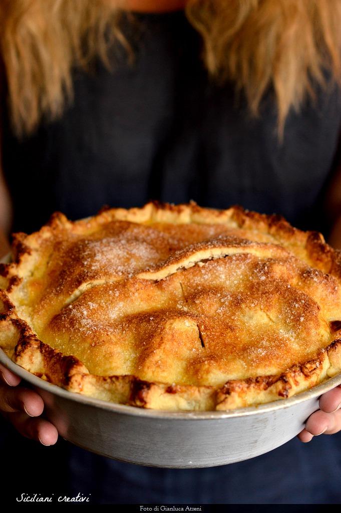 pie de manzana, receta original de tarta de manzana americana