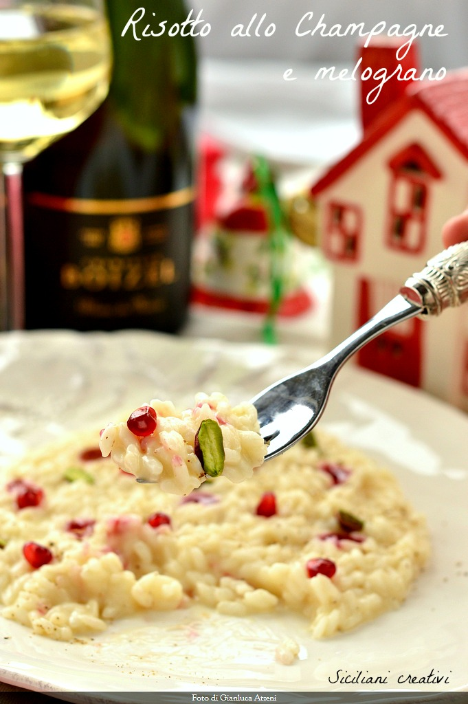 Risotto with Champagne and pomegranate