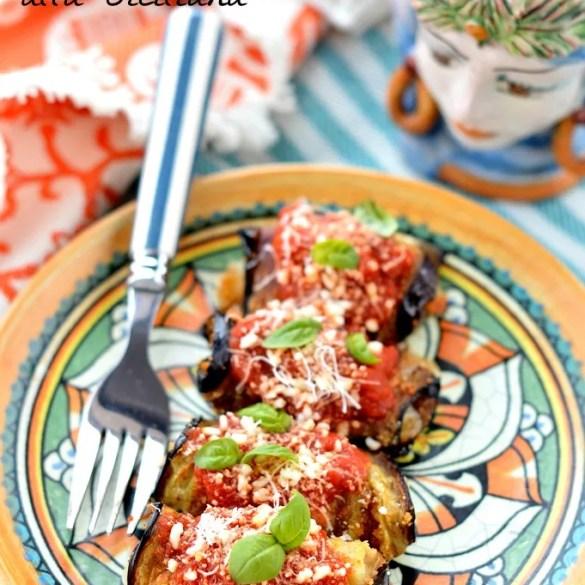 Involtini di melanzane fritte alla siciliana