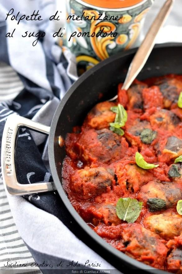 Eggplant meatballs with tomato sauce