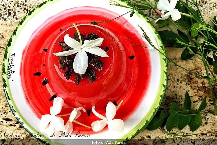 Melon d'eau gelée sicilienne