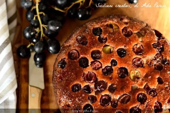 Torta di uva e mosto cotto