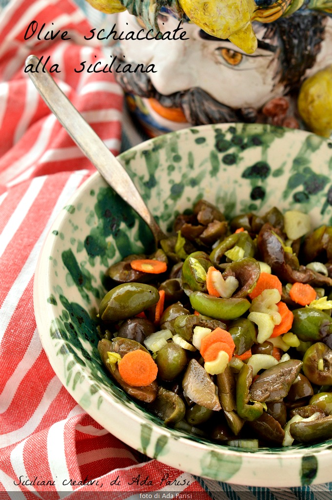 Olive schiacciate alla siciliana