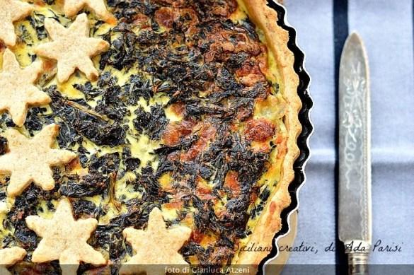 Torta salata integrale al cavolo nero