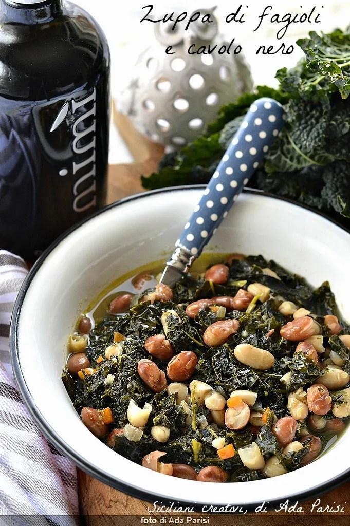 la soupe et le chou frisé Bean: un plat complet et riche en vitamines, anti-oxydants et minéraux. facile et végétalien Recette.
