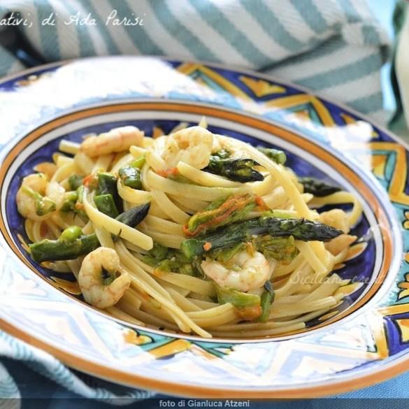 Linguine asparagi e gamberi, ricetta facile e deliziosa