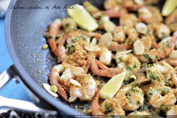 Sicilian pan-fried prawns